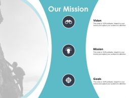 Our Mission Targets Vision F148 Ppt Powerpoint Presentation Portfolio Outfit