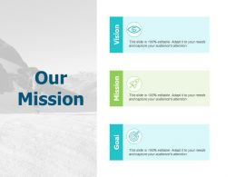 Our Mission Vision A545 Ppt Powerpoint Presentation Infographic Template Graphics Design