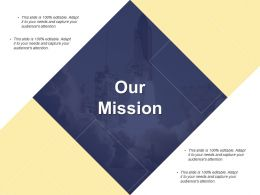 Our Mission Vision B111 Ppt Powerpoint Presentation File Designs