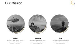 Our Mission Vision B20 Ppt Powerpoint Presentation File Smartart