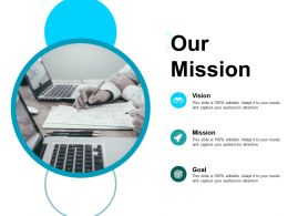 Our Mission Vision B5 Ppt Powerpoint Presentation Show Influencers