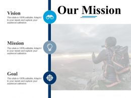 Our Mission Vision F475 Ppt Powerpoint Presentation Outline Graphics Example