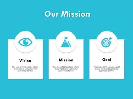 Our Mission Vision Goal 258 Ppt Powerpoint Presentation Samples