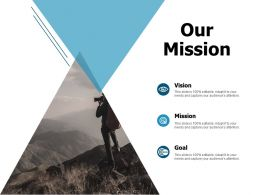 Our Mission Vision Goal A116 Ppt Powerpoint Presentation Summary Pictures