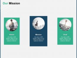 Our Mission Vision Goal A154 Ppt Powerpoint Presentation Outline Picture