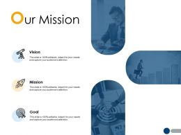 Our Mission Vision Goal A213 Ppt Powerpoint Presentation File Inspiration