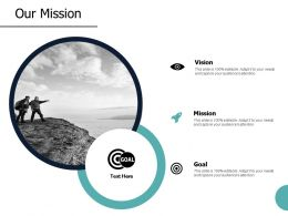 Our Mission Vision Goal A24 Ppt Powerpoint Presentation File Gallery