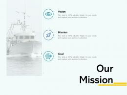 Our Mission Vision Goal A43 Ppt Powerpoint Presentation File Topics