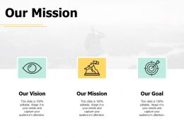 Our Mission Vision Goal A445 Ppt Powerpoint Presentation Infographic Template Graphics