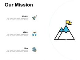 Our Mission Vision Goal A484 Ppt Powerpoint Presentation Slides Deck