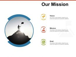 Our Mission Vision Goal A53 Ppt Powerpoint Presentation Outline