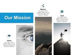 Our Mission Vision Goal A66 Ppt Powerpoint Presentation Model Outline
