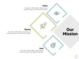 Our Mission Vision Goal A687 Ppt Powerpoint Presentation Slides Objects