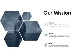 Our Mission Vision Goal A75 Ppt Powerpoint Presentation File Slides