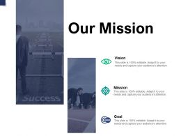 Our Mission Vision Goal A768 Ppt Powerpoint Presentation Ideas Graphics