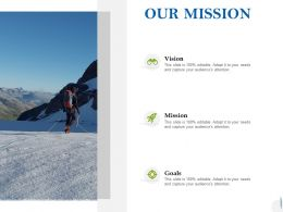 Our Mission Vision Goal C1003 Ppt Powerpoint Presentation Ideas Template