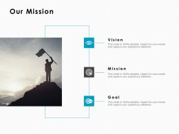Our Mission Vision Goal C1013 Ppt Powerpoint Presentation Inspiration Gallery