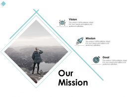 Our Mission Vision Goal C1023 Ppt Powerpoint Presentation File Information
