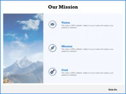 Our Mission Vision Goal C1063 Ppt Powerpoint Presentation Icon Deck