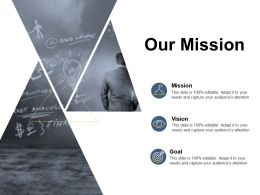 Our Mission Vision Goal C159 Ppt Powerpoint Presentation Gallery Visual Aids