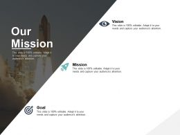 Our Mission Vision Goal C246 Ppt Powerpoint Presentation Gallery Visuals