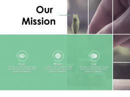 Our Mission Vision Goal C307 Ppt Powerpoint Presentation Slides Master Slide