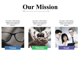 Our Mission Vision Goal C345 Ppt Powerpoint Presentation File Show