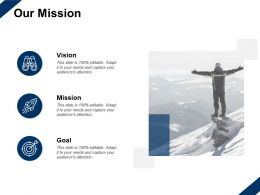 Our Mission Vision Goal C347 Ppt Powerpoint Presentation Slides Good