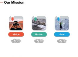 Our Mission Vision Goal C408 Ppt Powerpoint Presentation Good