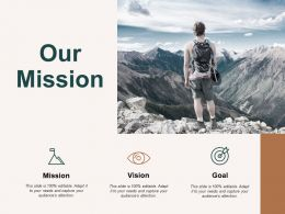 Our Mission Vision Goal C488 Ppt Powerpoint Presentation Show Influencers