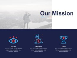 Our Mission Vision Goal C609 Ppt Powerpoint Presentation Icon Information