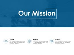 Our Mission Vision Goal C840 Ppt Powerpoint Presentation File Summary