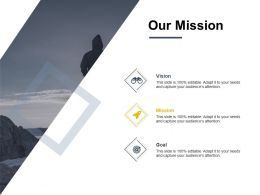 Our Mission Vision Goal C863 Ppt Powerpoint Presentation File Deck
