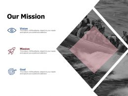 Our Mission Vision Goal C864 Ppt Powerpoint Presentation File Examples