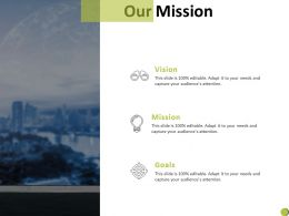 Our Mission Vision Goal C904 Ppt Powerpoint Presentation Summary Slides