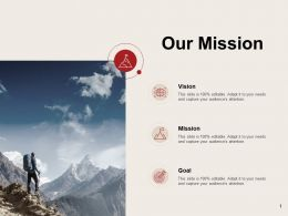 Our Mission Vision Goal C927 Ppt Powerpoint Presentation Gallery Icon