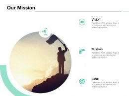 Our Mission Vision Goal C976 Ppt Powerpoint Presentation Icon Background