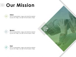 Our Mission Vision Goal E128 Ppt Powerpoint Presentation Model Styles