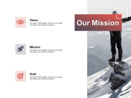 Our Mission Vision Goal E141 Ppt Powerpoint Presentation Gallery Topics