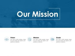 Our Mission Vision Goal E151 Ppt Powerpoint Presentation Show Aids