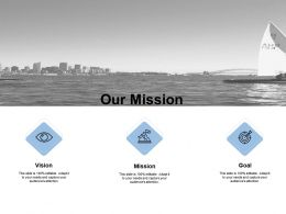 Our Mission Vision Goal E196 Ppt Powerpoint Presentation Slides Template