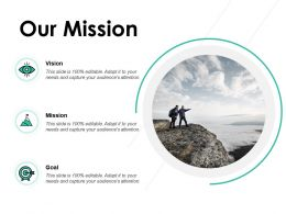 Our Mission Vision Goal E240 Ppt Powerpoint Presentation Show Example