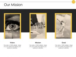 Our Mission Vision Goal E386 Ppt Powerpoint Presentation Styles Picture