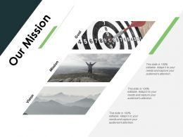 Our Mission Vision Goal E402 Ppt Powerpoint Presentation File Picture