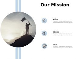 Our Mission Vision Goal E424 Ppt Powerpoint Presentation Gallery Mockup