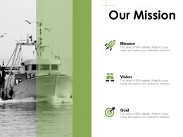Our Mission Vision Goal E45 Ppt Powerpoint Presentation Gallery Backgrounds