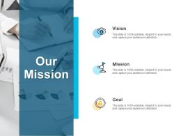 Our Mission Vision Goal F103 Ppt Powerpoint Presentation Pictures Icons