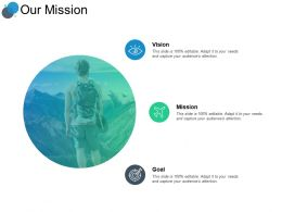 Our Mission Vision Goal F161 Ppt Powerpoint Presentation Portfolio Gridlines