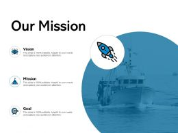Our Mission Vision Goal F225 Ppt Powerpoint Presentation Show Deck