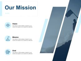 Our Mission Vision Goal F242 Ppt Powerpoint Presentation Pictures Summary